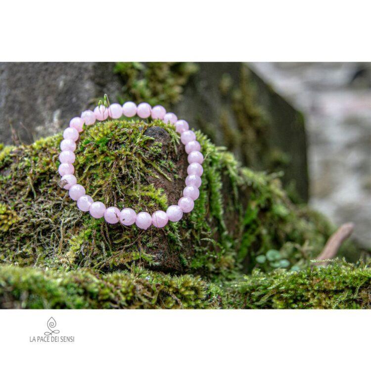 bracciale quarzo rosa